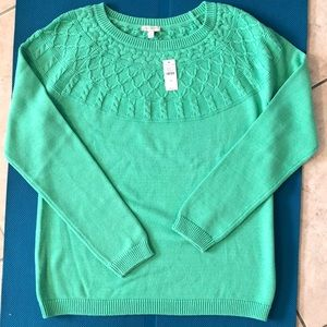 NWT Talbots 100% cotton cable knit sweater